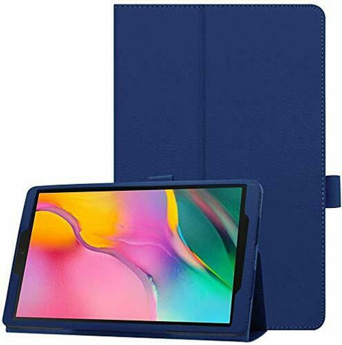 Samsung Galaxy Tab A 10.5 SM-T590 T595 Navy Blue Leather Tablet Stand Flip Cover