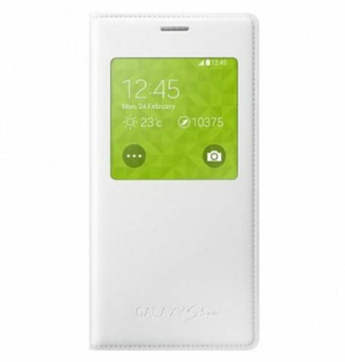 Genuine Samsung Galaxy S5 Mini Smooth S View Wake Sleep Flip Case Cover