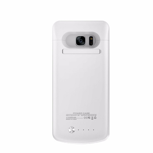 White  Samsung Galaxy S7 Edge Battery Charger Case Cover Power Bank Backup 5200mAh