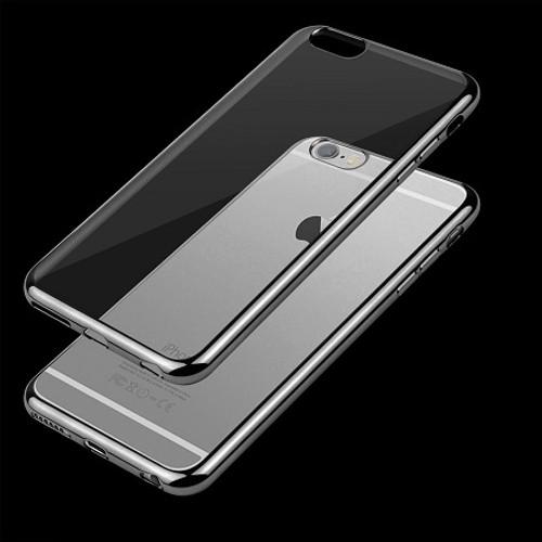 Apple iPhone X Black Chrome Bumper   Gel Phone Cover Case
