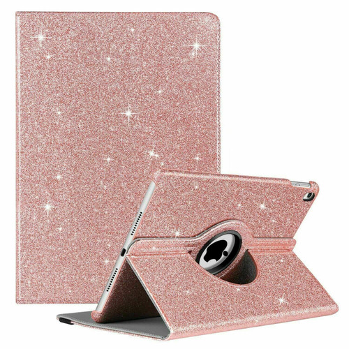 Rose gold glitter shining bling stand cover Case For Apple iPad 7th Generation