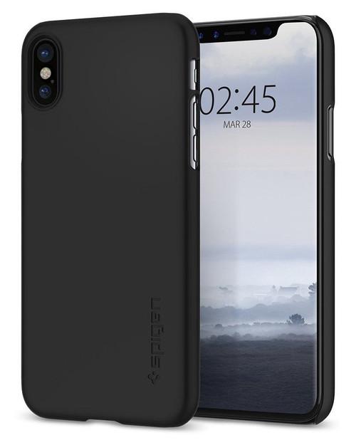 Apple iPhone X Spigen Thin Fit Premium Matte Black
