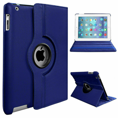 Blue 360 rotate stand Smart Case For Apple iPad Air 10.9 2020 4th Generation
