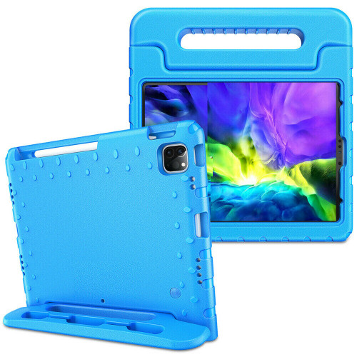 Blue handle case For iPad Air 4th Gen 2020  Kids Shockproof Stand Foam EVA Cover