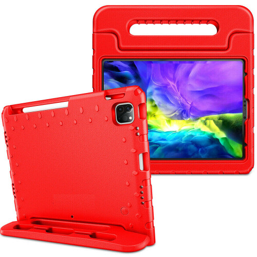 Red handle case For iPad Air 4th Gen 2020  Kids Shockproof Stand Foam EVA Cover