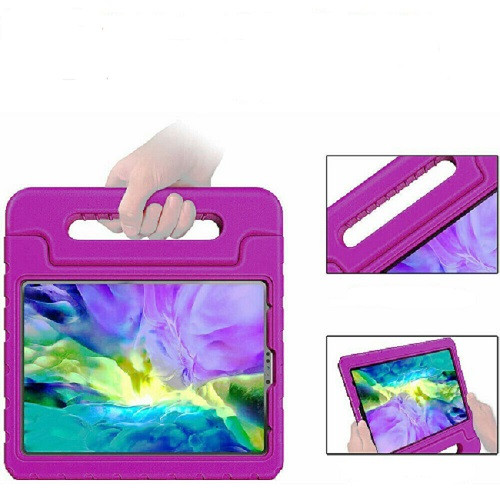 Purple handle case For iPad Air 4th Gen 2020  Kids Shockproof Stand Foam EVA Cover