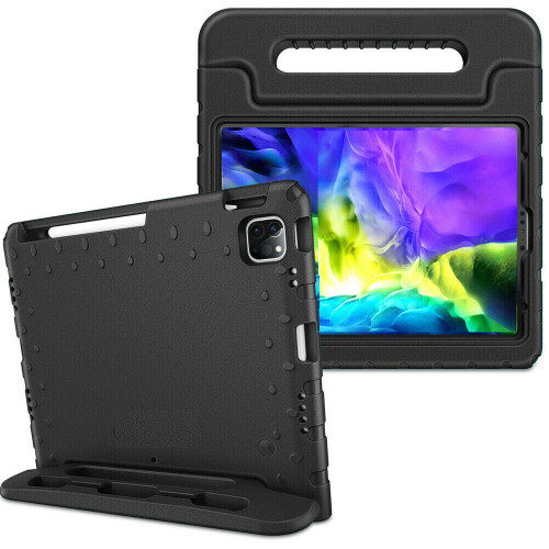 Black handle case For iPad Air 4th Gen 2020  Kids Shockproof Stand Foam EVA Cover