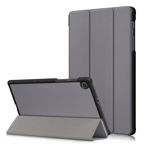 Grey leather flip case for Samsung Galaxy Tab A 8.4 2020 SM-T307