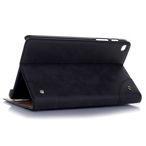 Black leather shockproof stand tablet case for Samsung Galaxy Tab A 8.4 2020 SM-T307