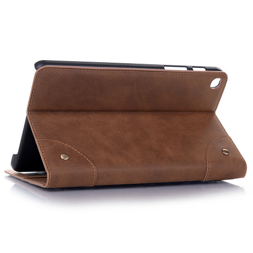 Light brown leather shockproof stand tablet case for Samsung Galaxy Tab A 8.4 2020 SM-T307