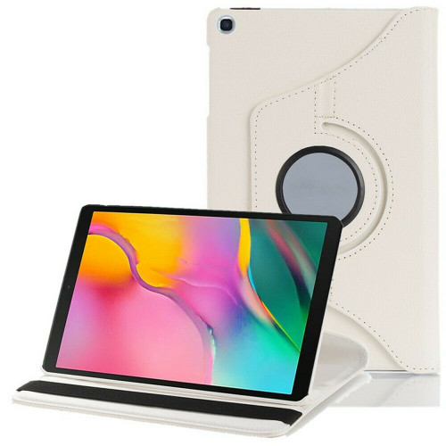 White 360 Rotating Case For Samsung Galaxy Tab A 8.4 2020 SM-T307 PU Leather Cover