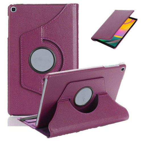 Purple 360 Rotating Case For Samsung Galaxy Tab A 8.4 2020 SM-T307 PU Leather Cover