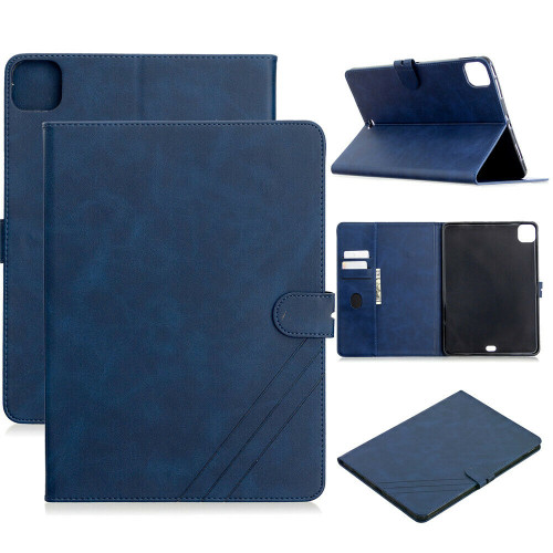 Blue Card Slot Smart Stand PU Leather Soft Cover iPad Pro 11 2020