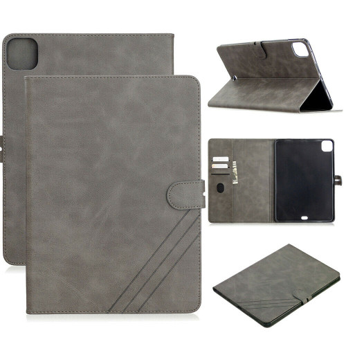 Grey Card Slot Smart Stand PU Leather Soft Cover iPad Pro 11 2020