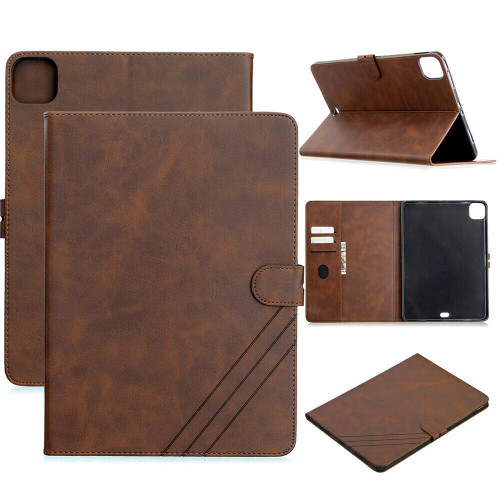 Brown Card Slot Smart Stand PU Leather Soft Cover iPad Pro 11 2020