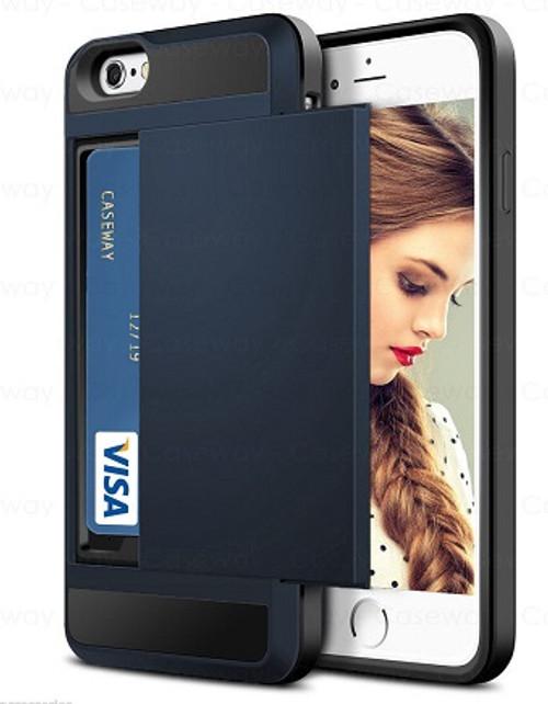 Apple iPhone XS Tough Wallet  Metal Slatel Card Holder  Case