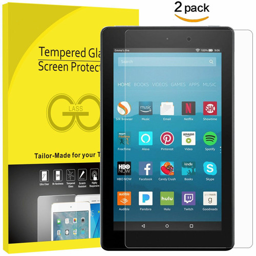 Screen Protector Tempered Glass for Amazon Kindle Fire HD 8 7th generation 2017
