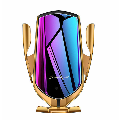 Gold 2 In 1 10W Qi Fast Charger Wireless Automatic  Phone for Samsung Galaxy S10 10e S10 plus