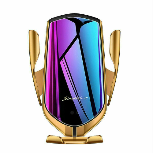 Gold 2 In 1 10W Qi Fast Charger Wireless Automatic  Phone  for iPhone 11 pro max