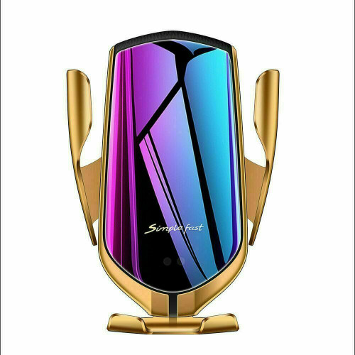 Gold 2 In 1 10W Qi Fast Charger Wireless Automatic  Phone  for iPhone 12 mini