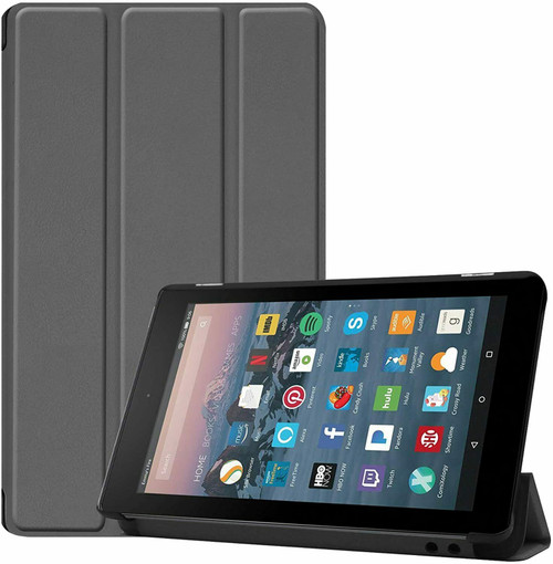 Amazon Kindle Fire HD 8 8Plus Tablet (2020) Premium Smart Book Stand  Grey cover