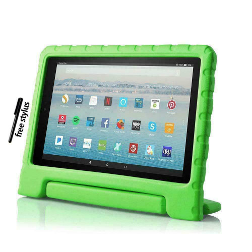 Green EVA Foam Stand Case Cover For Amazon Fire Amazon Kindle Fire HD 8 8 Plus Tablet (2020)