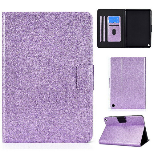 Purple glitter protective Amazon Kindle Fire HD 8 8Plus Tablet (2020)