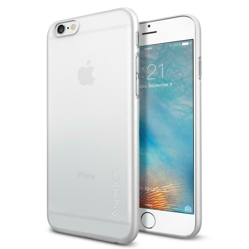 iPhone 6S Case, Spigen Air Skin Ultra Slim Lightweight Cover - Soft Clear