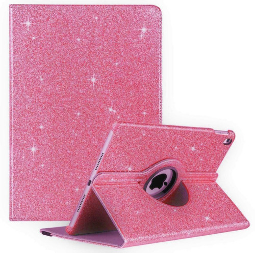 Pink glitter bling stand case Cover For iPad 7th Gen 10.2 2019