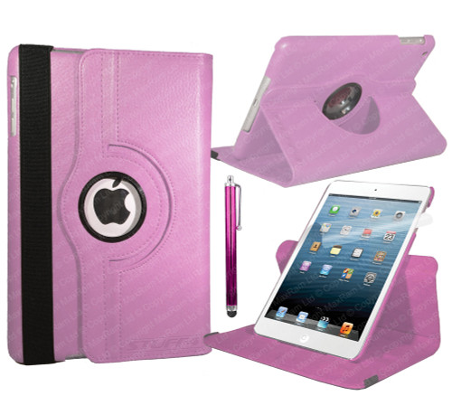 Baby Pink PU Leather 360 Rotating Case for iPad Air 2