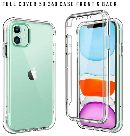 Front back clear silicon cover for Apple iPhone  12 Pro Max