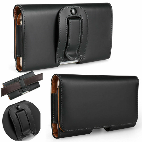 Leather Belt Clip Wallet Hip Book Case Pouch Holder for Apple iPhone 12