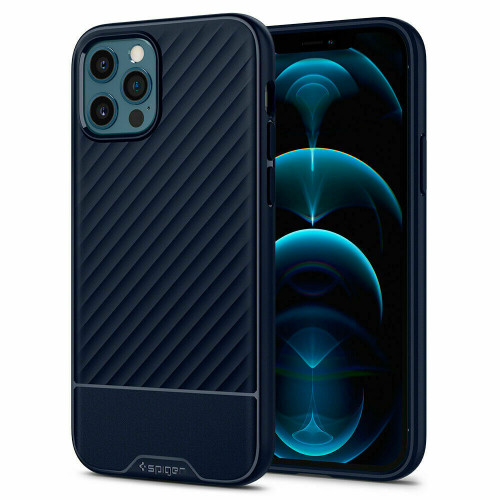 iPhone 12 Pro Max Case Spigen Core Armor Shockproof Protective Cover - Navy Blue