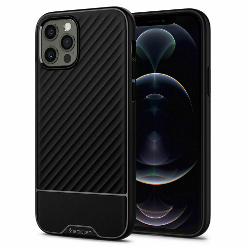 iPhone 12 Pro Max Case Spigen core Armor Shockproof Protective Cover - Black