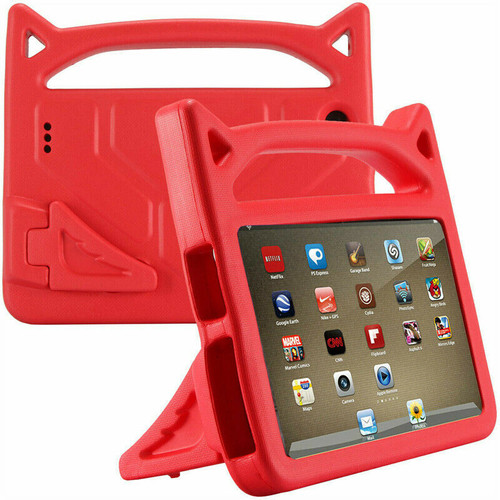 Red amazon Kindle Fire HD 10 9th Gen   Kids Shockproof Handle Cover