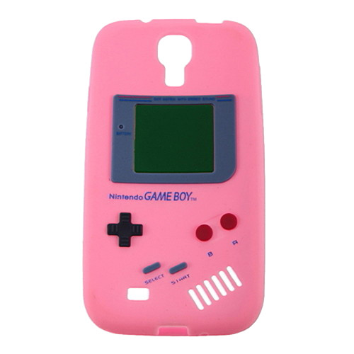 Baby Pink Retro GameBoy Case for Samsung Galaxy I9500 S4 + Screen Protector