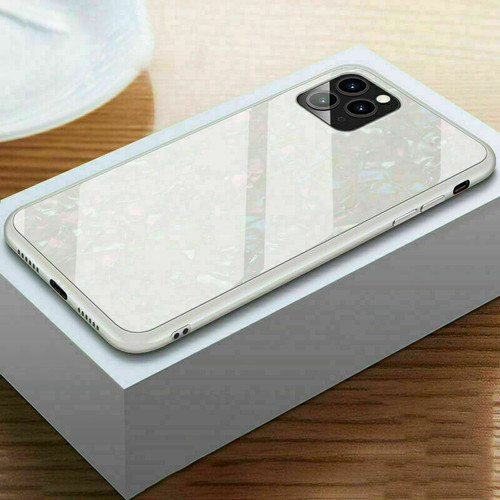 Glitter Marble Case For iphone 11 pro max white
