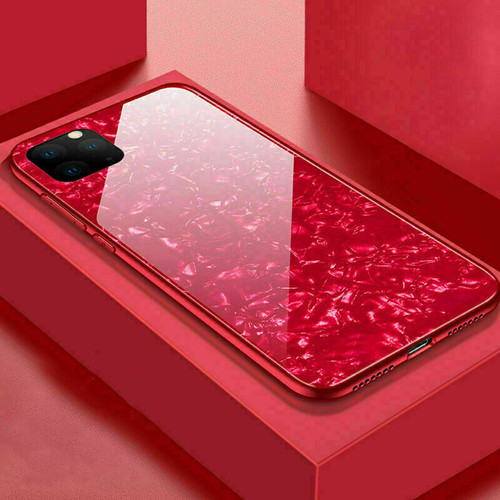 Glitter Marble Case For iphone 11 pro max Red