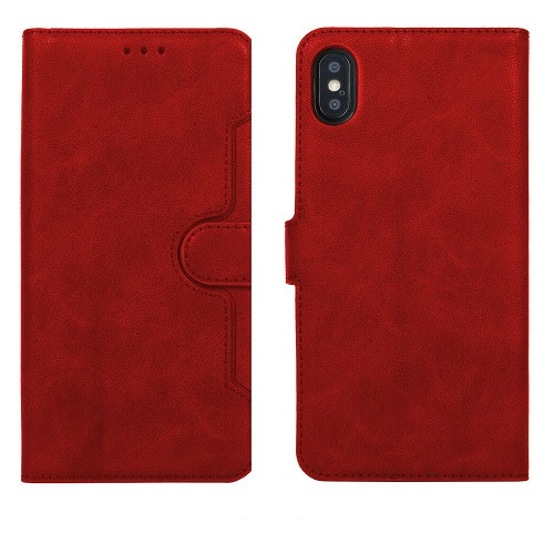 Red Leather Flip Wallet Case Premium Cover Mobile Protector  for Apple iPhone 11Pro max