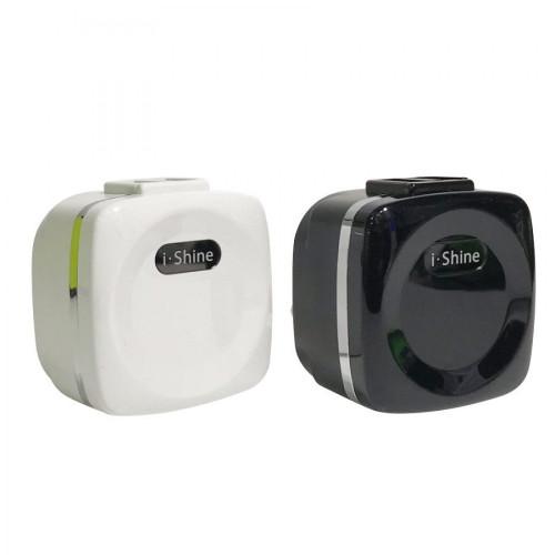 IShine 2 AMP Dual USB Charger Adapter Plug - Black