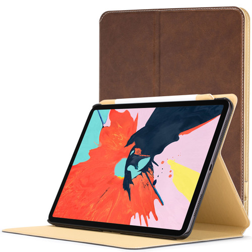 Apple iPad Pro 12.9 inch 2018 Case  brown Magnetic Protective Smart Case Cover Stand