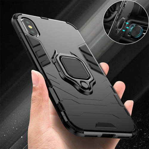 Shockproof Rugged 360 Ring Stand Armor Cover for Apple iPhone  11