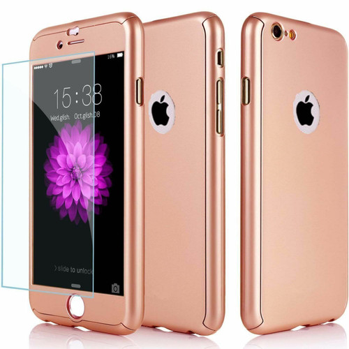 Rose gold Shockproof 360 Full Body Cover Protective for Apple iPhone  11