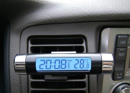 Black Car Dashboard Digital LCD Blue Backlight Thermometer