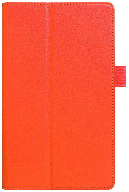 Amazon kindle Fire HD 8(2018) orange Flip Magnetic Smart Leather Stand Case Cover