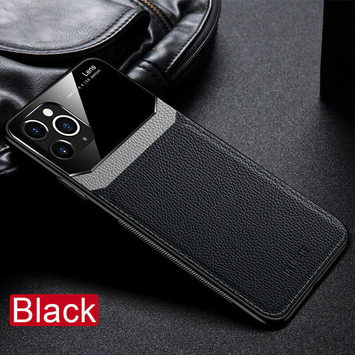 Apple iPhone  11 Pro Black Hybrid Leather Protective Case Slim Cover