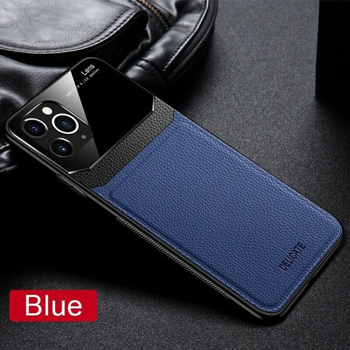 Apple iPhone  11 Pro Blue Hybrid Leather Protective Case Slim Cover