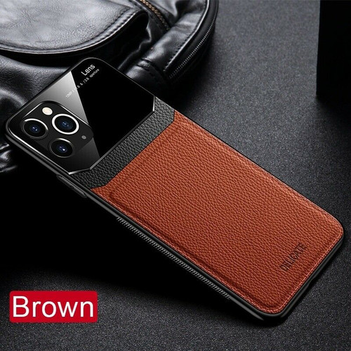 Apple iPhone  11 Pro Brown Hybrid Leather Protective Case Slim Cover
