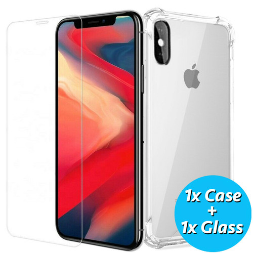 Apple iPhone  11 Pro Tempered Glass Screen Protector  with gel case