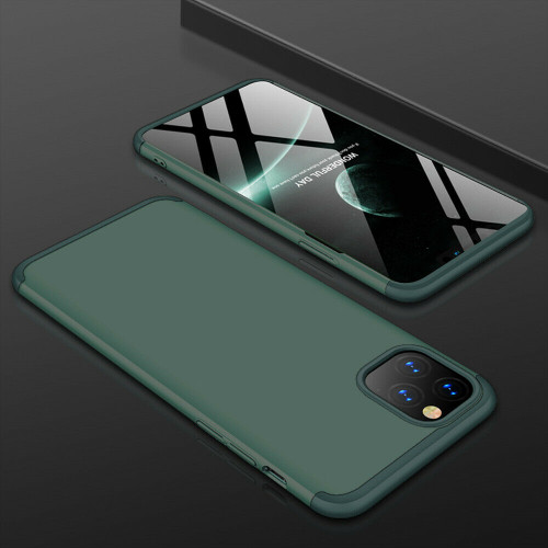 Green hard back case with  Glass Screen Protector For  Apple iPhone  11 Pro